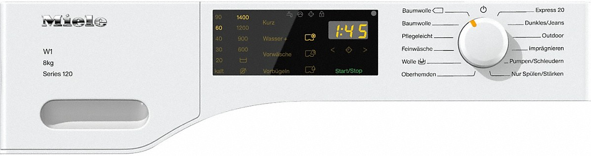 miele wdd 025 wps 8kg series 120 w1 classic waschmaschine. Black Bedroom Furniture Sets. Home Design Ideas