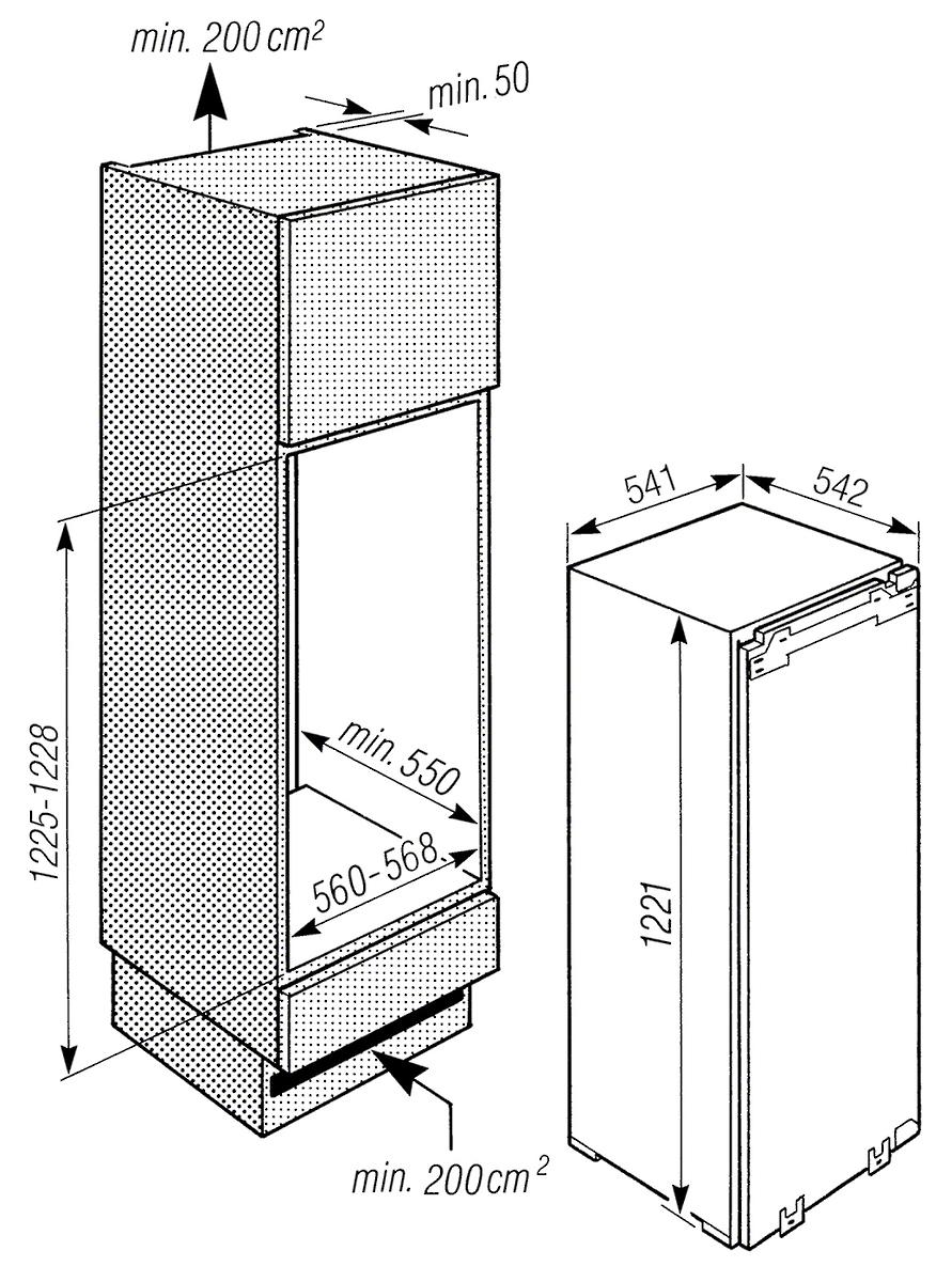 Kühlschrank Einbau miele k 515 i 2 einbau kühlschrank