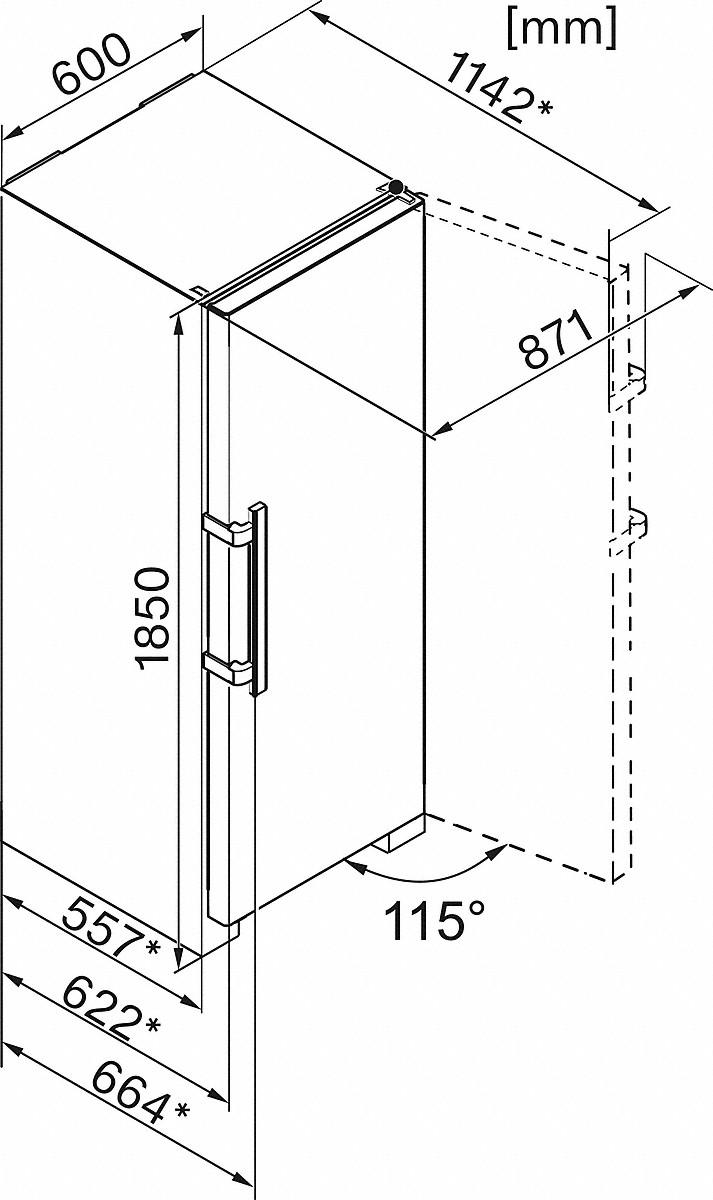 Miele K 28202 D edt/cs Freestanding refrigerator