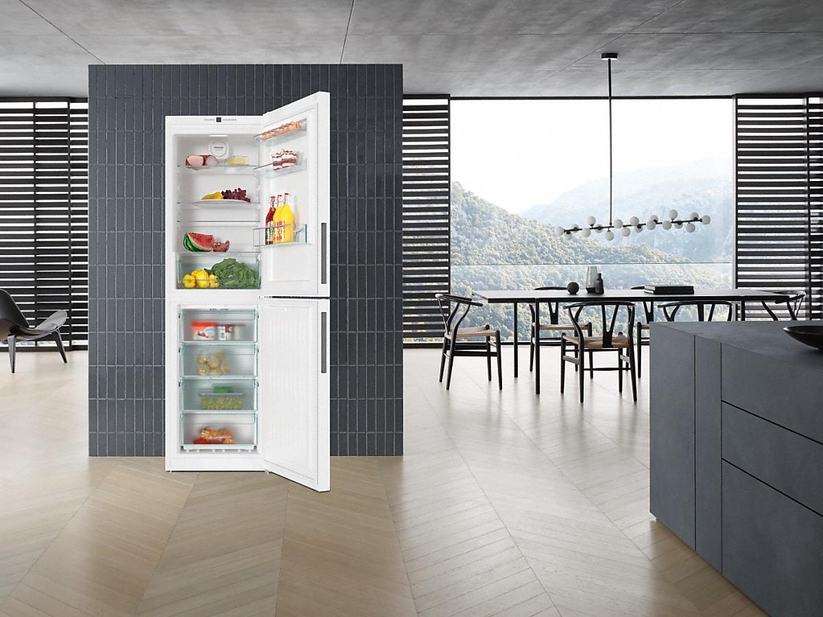 miele kfn 29142 ws stand k hl gefrierkombination. Black Bedroom Furniture Sets. Home Design Ideas
