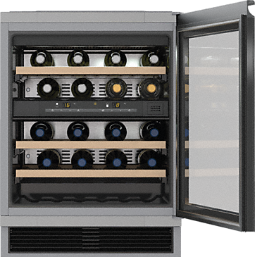 KWT 6321 UG - Built-under wine conditioning unit Active charcoal filter & Dynamic cooling for best storage conditions in 2 zones.--NO_COLOR
