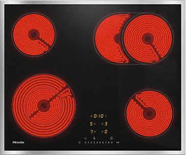 KM 6540 FR - Electric hob with onset controls with an ExtraSpeed cooking zone for the shortest heating-up times.--NO_COLOR