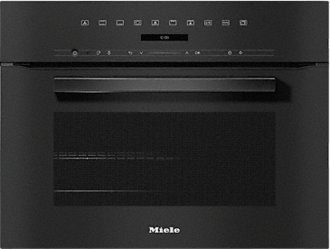 H 7244 B - Compacte oven in perfect te combineren design met display met tekst en PerfectClean.--